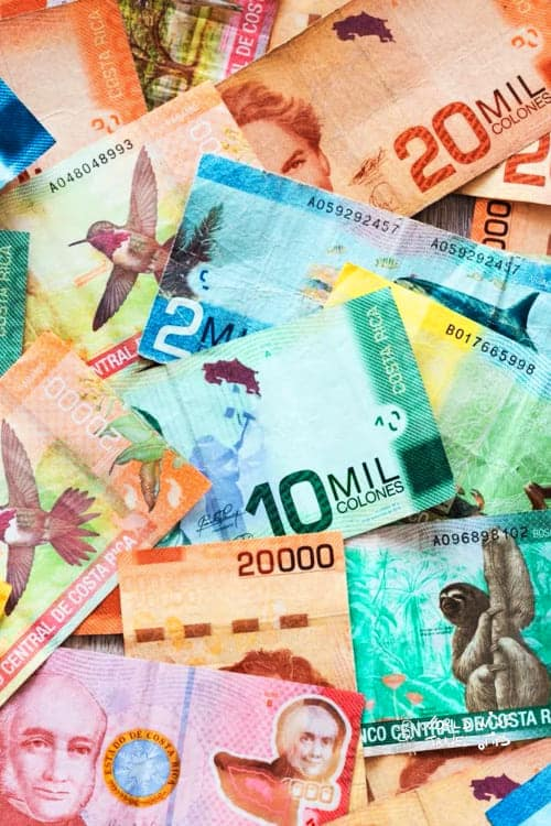Costa Rica Money bills