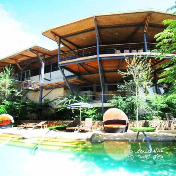 Rio Perdido Hotel and Thermal River pool