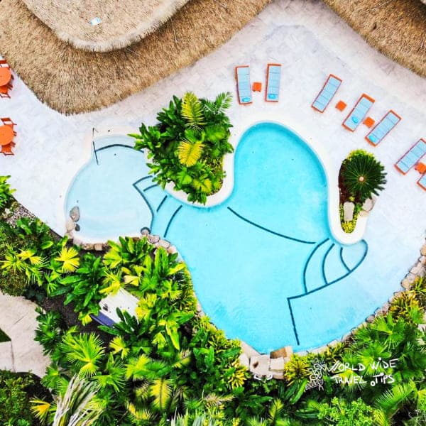 Hotel Aguas Claras aerial view