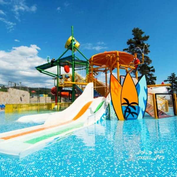 Nevis Resort and Aqua Park Sunny Beach waterslide for children