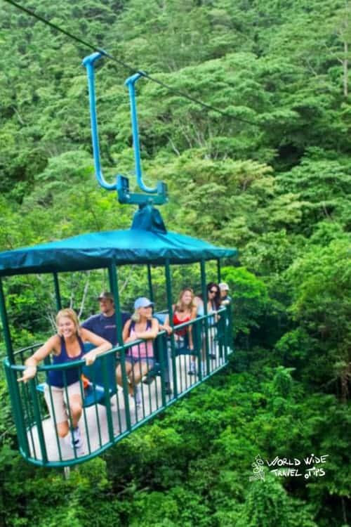 teleferico bosque lluvioso aerial tram Costa Rica