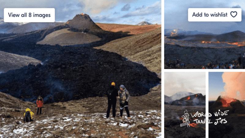 Geldingadalis Volcano Hike and Blue Lagoon Comfort Ticket Tour