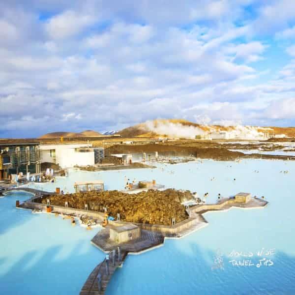 Iceland Blue Lagoon aerial view